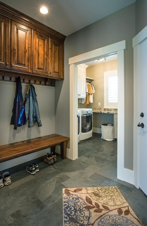 Barn door designs - Mudroom Leading To The Laundry Room